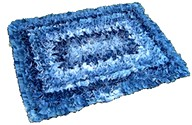 denim rectangle rug
