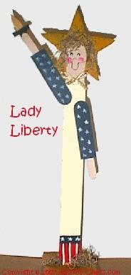 lady liberty paint stick