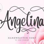 Angelina Handwritten Font