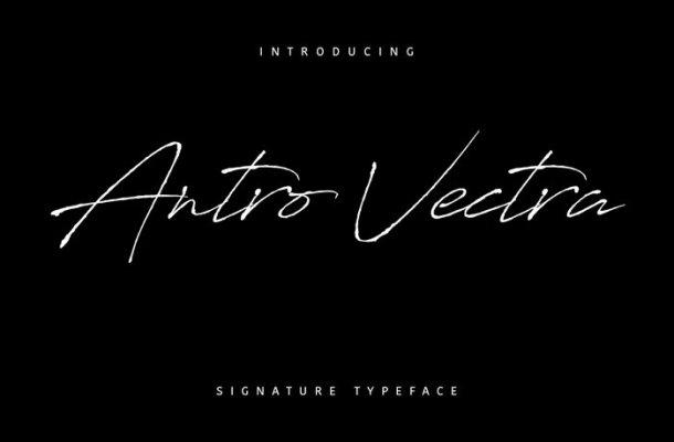 Antro Vectra Script Font