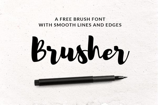 Brusher Font