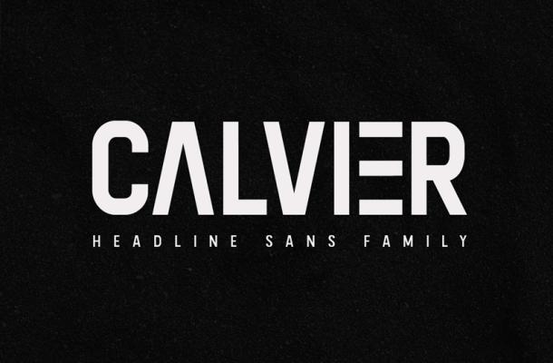 Calvier font
