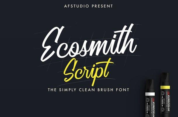 Ecosmith Script Font
