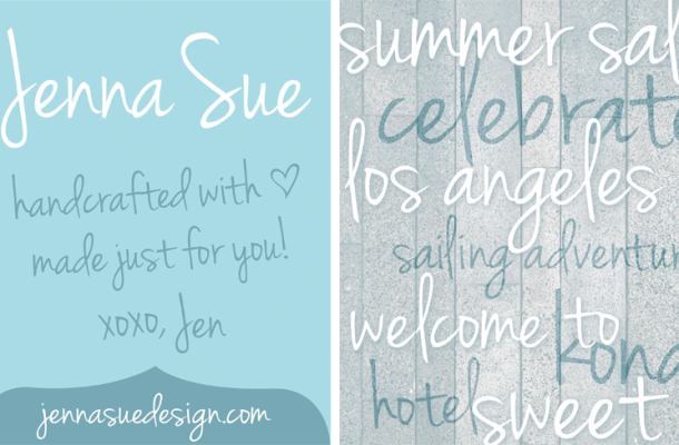 Jenna Sue font
