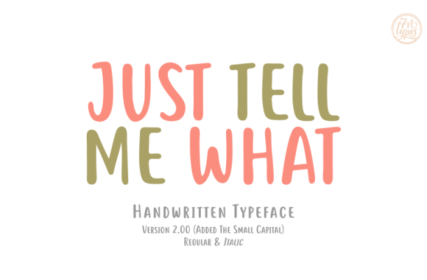 Just tell me what font