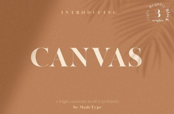 MADE Canvas Serif Font