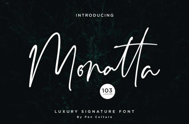 Monatta font