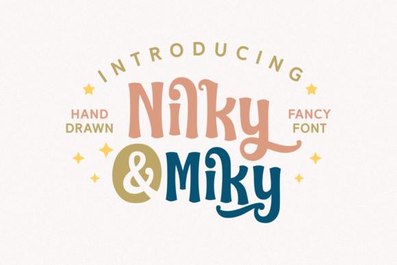 Nilky & Miky Typeface