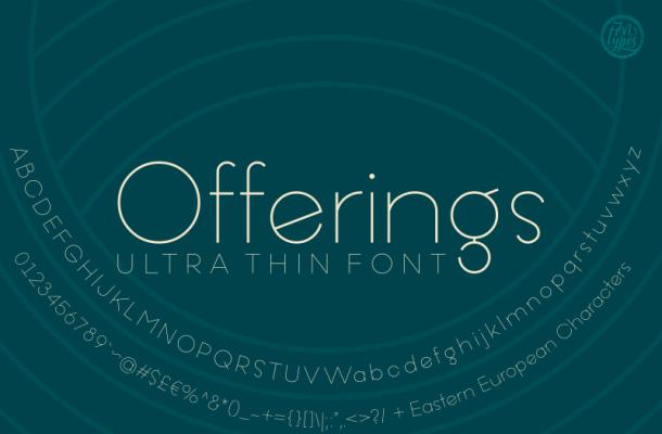 Offerings font