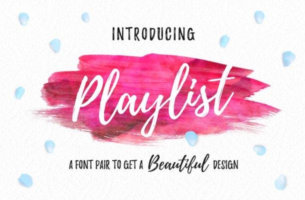 Playlist Script Font