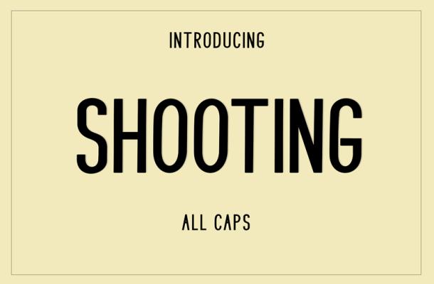 Shooting font