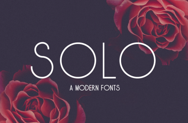 Solo font