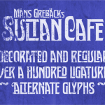 Sultan Cafe PERSONAL USE Font