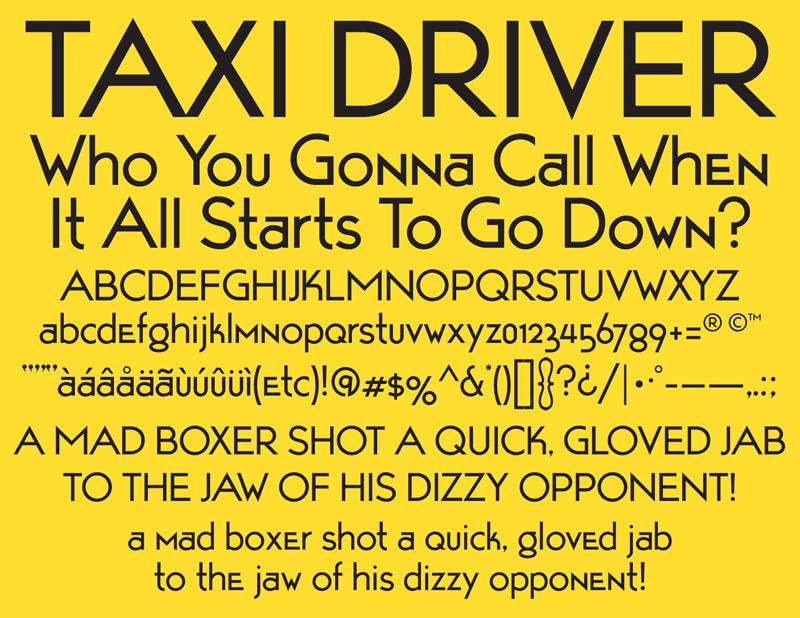 Taxi Driver font - All Free Fonts