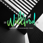 Willford Brush font