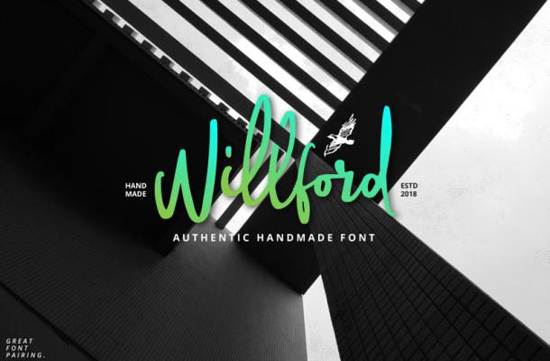 Willford Brush font
