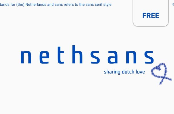 Nethsans Typeface – Entirely Free