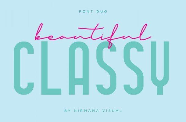 Classy Beauty Font Duo