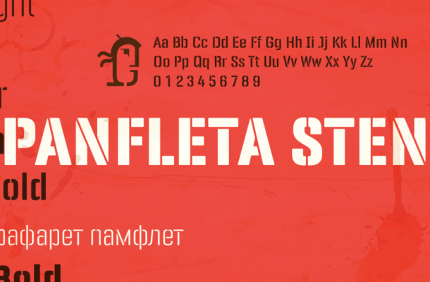 PANFLETA STENCIL FONT