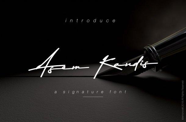 Asem Kandis Signature Font
