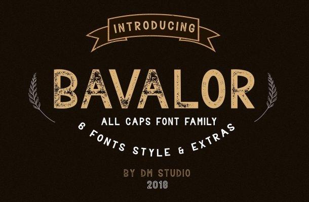 Bavalor Typeface