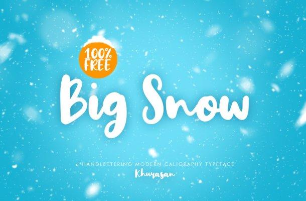 Big Snow Script Font