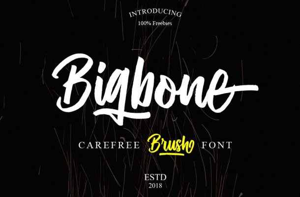 Bigbone Brush Font