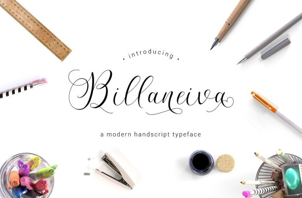 Billaneiva Script Font