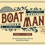 Boatman Display Font