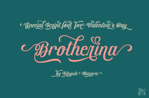 Brotherina Script Font