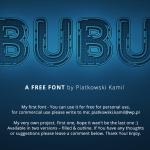 BUBU Typeface