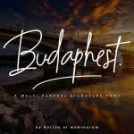 Budaphest Signature Font