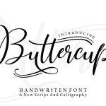 Buttercup Handwritten Font