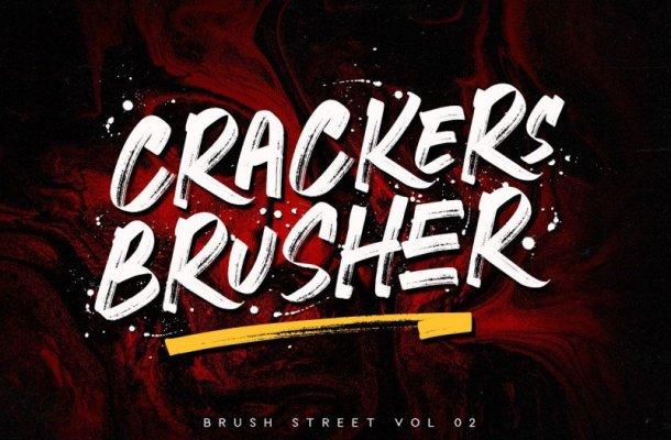Crackers Brusher Font
