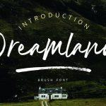 Dreamland Brush Font