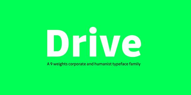 Drive Font Family