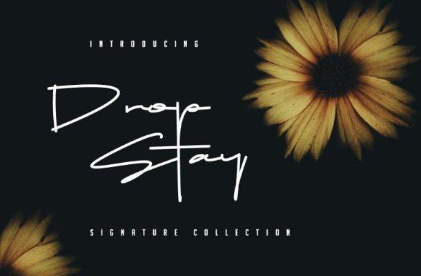 Drop Stay Signature Font