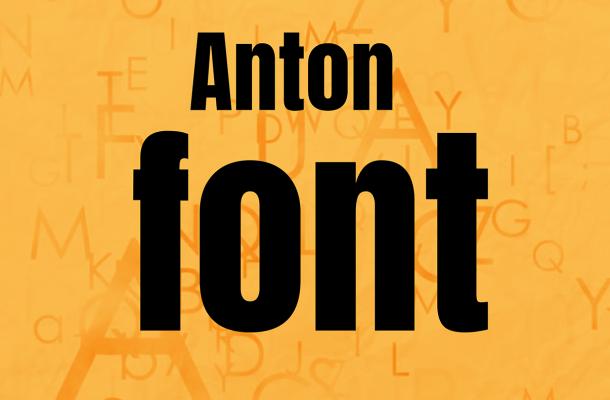 Anton Typeface