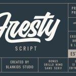 Fresty Script Font