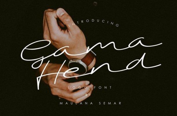 Gama Hend Script Font