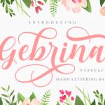 Gebrina Script Font