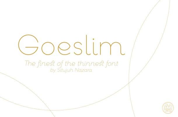 Goeslim Ultra Thin Font