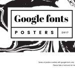 Google Fonts Posters 2017