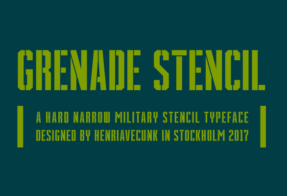Grenade Stencil Font