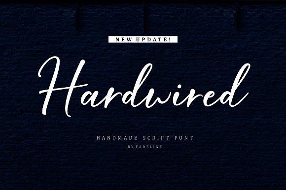 Hardwired Script Font