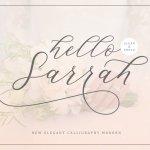 Hello Sarrah Script Font