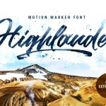 Highlander Brush Font