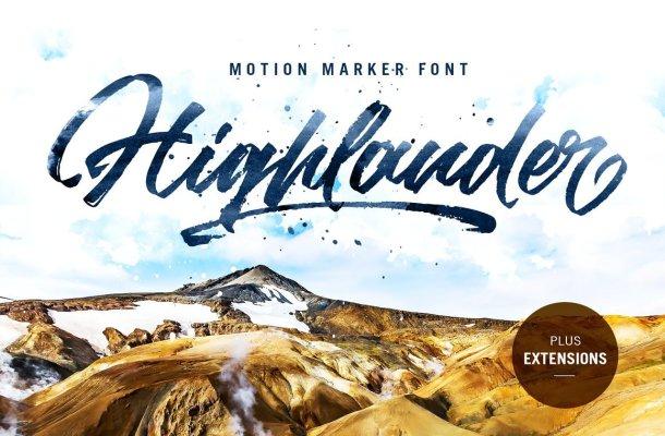 Highlander Brush Font