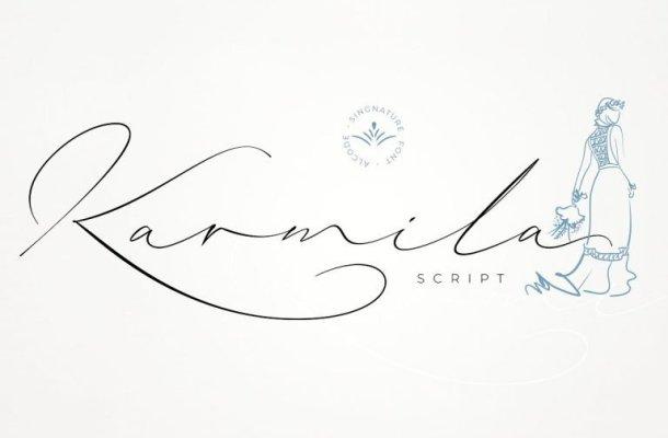 Karmila Signature Font