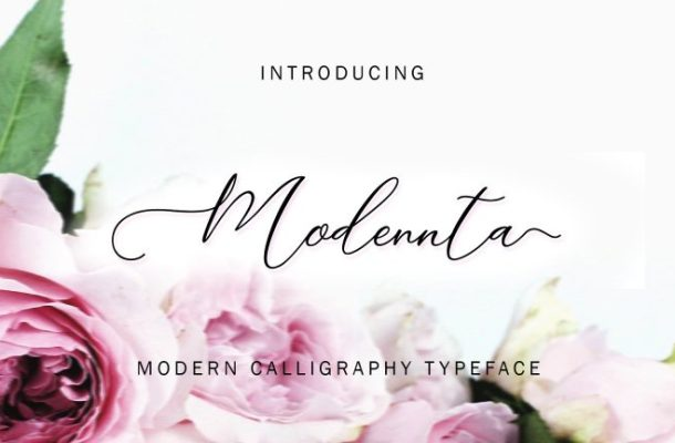 Modennta Script Font